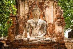 buddha gammal staty Arkivfoton