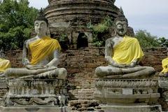buddha gammala thailand Arkivfoto