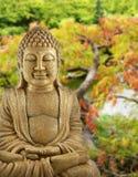 Buddha Garden. BUddha backed by a Japanese garden Stock Images