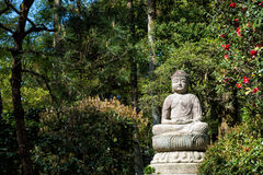 Buddha in the garden Royalty Free Stock Photos