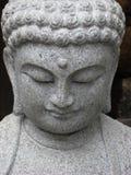 Buddha-Gesicht, das unten schaut Stockfotos