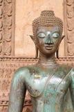Buddha-Gesicht in Vientiane Lizenzfreie Stockfotografie