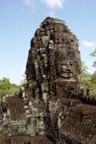 Buddha-Gesichts-Statuen in Bayong Stockbild
