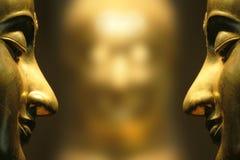 Buddha-Gesichtsreflex Stockfoto