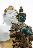 Buddha and giant. Picture cut off between Buddha and the giant Royalty Free Stock Photo