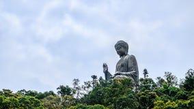 Buddha gigante del Po Lin Monastery all'isola di Lantau Hong Kong fotografie stock libere da diritti