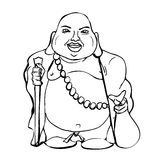 Buddha god illustration royalty free illustration