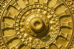 Buddha-Gold, das Beschaffenheit schnitzt Lizenzfreie Stockbilder