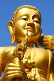 Buddha Gold Figure. Golden Buddha figure at a temple in Thailand Royalty Free Stock Photography