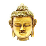 Buddha gold head Stock Photography
