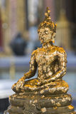 Buddha with Gold Leaves. Buddha Image Covered with Gold Leaves Royalty Free Stock Photography