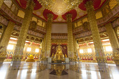 Buddha in the gold room Royalty Free Stock Photography