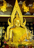 Buddha gold sculpture thai Royalty Free Stock Photography