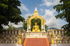 Buddha gold statue. In Chiang mai , Thailand Stock Images