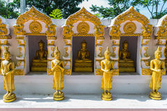 Buddha gold statue. In Chiang mai , Thailand Stock Image