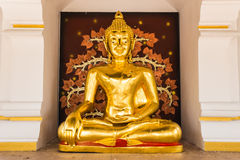 Buddha gold statue. In Chiang mai , Thailand Royalty Free Stock Photography