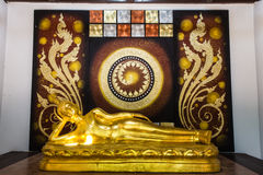Buddha gold statue. In Chiang mai , Thailand Stock Photography