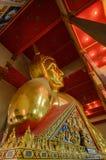 Buddha gold statue face. Royalty Free Stock Photos