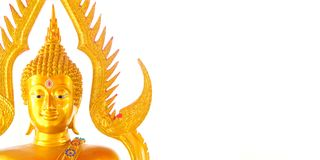 Free Buddha Gold Statue On Golden Background Patterns Stock Photo - 123423590