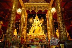 Buddha gold statue Royalty Free Stock Photography