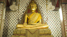 Buddha gold statue and thai art architecture in Wat Arun buddhist temple. Stock Photography
