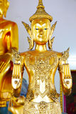 Buddha gold statue and thai art architecture Royalty Free Stock Image