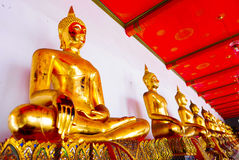 Buddha gold statue and thai art architecture Stock Photography