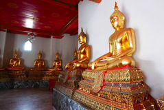 Buddha gold statue and thai art architecture Royalty Free Stock Images