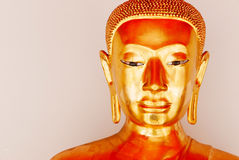 Buddha gold statue and thai art architecture Stock Images