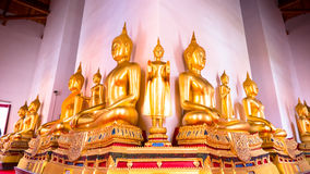 Buddha gold statue and thai art architecture Royalty Free Stock Photo