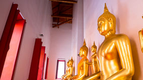 Buddha gold statue and thai art architecture Royalty Free Stock Photography