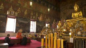 Buddha gold statue and thai art architecture. Royalty Free Stock Photography