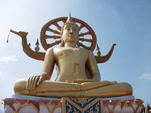 Buddha. Gold statue Thailand Stock Photos