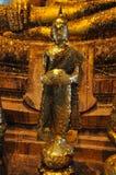Buddha gold statue in Wat Bangkung, Ampawa, Royalty Free Stock Photography