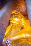 Buddha gold statue in Wat Pho, Bangkok Stock Photography
