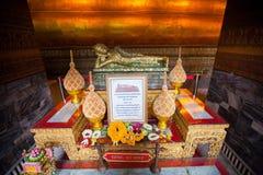 Buddha gold statue in Wat Pho, Bangkok Stock Image