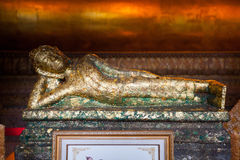Buddha gold statue in Wat Pho, Bangkok Royalty Free Stock Photo