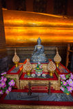 Buddha gold statue in Wat Pho, Bangkok Royalty Free Stock Photography