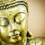 Buddha. Golden buddha with closed eyes Royalty Free Stock Photography