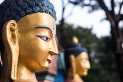 Buddha golden face Stock Image