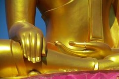 Buddha golden gold like statue huge hand royalty free stock photography