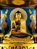 Buddha. Golden Buddha in the Mahabodhi Temple, Bodhgaya, Bihar, India Stock Images
