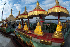 Buddha in golden rock Pagoda in Myanmar . Stock Photography