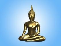 Buddha-goldene Statue Stockbild