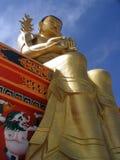 Buddha-goldene Statue Lizenzfreie Stockbilder