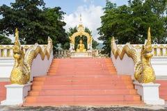 Buddha-Goldstatue Lizenzfreie Stockfotos