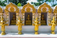 Buddha-Goldstatue Stockbild