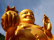 Buddha gordo, sorriso de Buddha. Imagens de Stock
