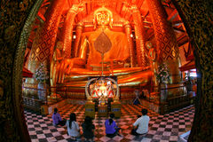 Buddha grande, Ayutthaya, Tailândia Imagens de Stock
