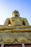 Buddha grande de oro Fotografía de archivo libre de regalías